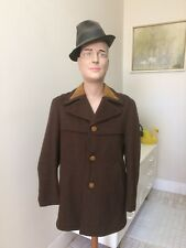 Original Vintage Men's 60s 70s Coat Jacket , Pure Wool , Retro Coat Windbreaker
