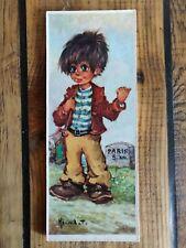 Poulbot sur bois Vagabond signé Michel T Vintage.
