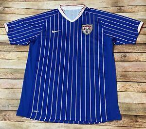 Nike USMNT USA SOCCER Jersey 2006 2007 Third 3rd COPA GOLD Rare Blue Shirt Large