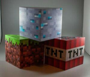 decorative wooden mine craft style shelves (handmade) set of 3
