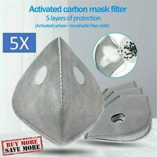 10 Pack PM2.5 Activated Carbon Replacement Filters for Dual Valve Face Masks