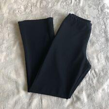 Womens Black Pants Stretch Wide Leg Casual/Office Size Medium