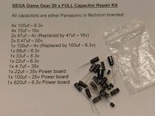 SEGA Game Gear FULL 20 capacitor kit, fixes most sound, power, screen issues