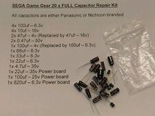 SEGA Game Gear FULL 20 capacitor kit inc Power, Sound & Main board