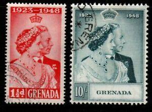 GRENADA SG166/7 1948 SILVER WEDDING FINE USED