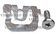 FITS CUTLASS 1968-72 WINDSHIELD REAR GLASS REVEAL MLDG CLIPS 20