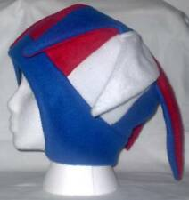 NEW fleece jester snowboard hat- red white and blue