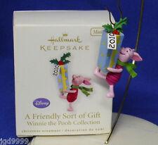 Hallmark Miniature Winnie the Pooh Ornament A Friendly Sort of Gift 2010 Piglet