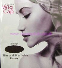 BROWN HAIR NET STOCKING WIG CAP 2PCS/POLYBAG ONE SIZE FIT