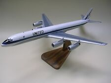 Douglas DC-8 United Airlines DC8 Airplane Dried Wood Model Regular