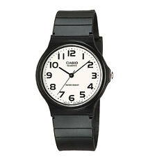 Casio MQ24-7B2, Classic Analog Watch, Black Resin, White Dial, Water Resistant
