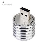 3W USB LED Lamp Aluminum Socket Spotlight Flashlight White Light