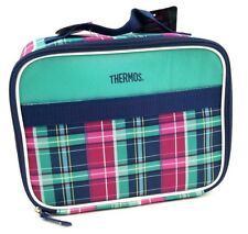 Thermos Insulated Lunch Bag Retro Style Check Pattern Multi Color New With Tags