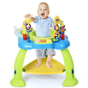 Baby Jumperoo Bouncer Chair Adjustable Infant Toddler Activity Jumper W/ Toys