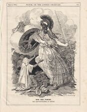 1900 Punch Cartoon Responsibilities of Empire in War and Famine