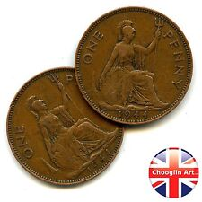 A pair of 1944 British Bronze GEORGE VI PENNY Coins