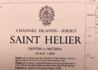 ADMIRALTY SEA CHART. # 3654. SAINT HELIER, JERSEY. CHANNEL ISLANDS. 1974 - 89.