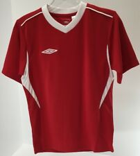 Umbro Boys Youth S/S Soccer Azul Jersey Cut Top Red/White Size Youth Small Nwt #