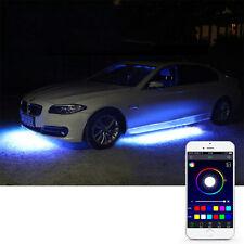 "4x RGB LED Under Car Tube Strip Underglow Body Neon Light Phone Control 47"" IP68"