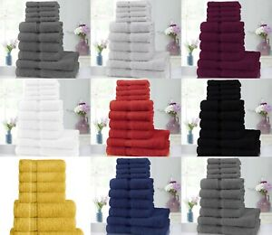 10 Piece Pure Cotton Towels Bale Set 4 Face 4 Hand 2 Bath Towels Highly Absorben
