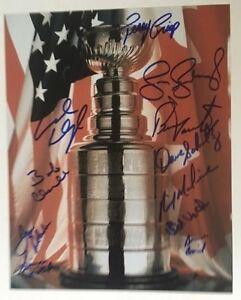 Philadelphia Flyers 1974-75 Stanley Cup Trophy Photo Autographed Dave Schultz