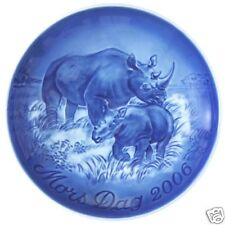 Bing & Grondahl 2006 Mother's Day Plate Rhinoceros B&G Mothers Day New In Box!