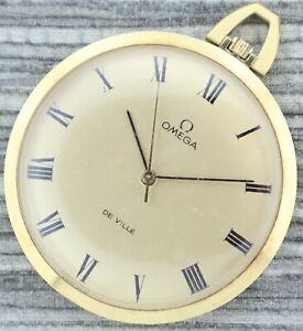 Antique 601 Omega De Ville 17Jewel Manual Wind Pocket Watch 131 1714 Gold Plated