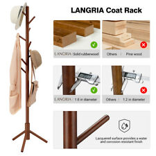 Coat Rack, Oxkers Coat Rack Stand Wood, Super Easy Assembly NO Tools Required, F