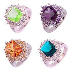 Gorgeous Jewelry Dazzling Green Amethyst & Emerald Gemstone Silver Ring 0.99!!