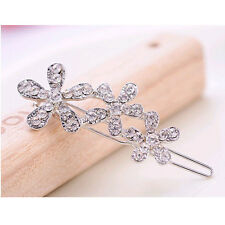 Pretty Nice Women Curved Flower Rhinestone Hair Clip Hairpin Hair Accessories yf