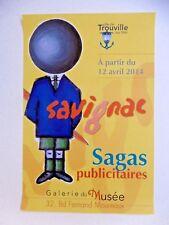 SAVIGNAC Raymond Affiche originale 2014 Publicité Stylo bille BIC Trouville