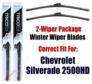 WINTER Wipers 2-pack fits 2001+ Chevrolet Silverado 2500 HD & 3500 HD - 35220x2