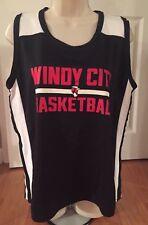 New Windy City Basketball Chicago Bulls Tank Top Shirt Size 14-16 Pro Sport Poly
