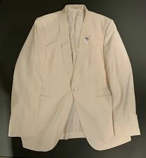 NWT $2895 Ermenegildo Zegna White Dinner Tor Easy Jacket 100% Silk NEW Size 42 L