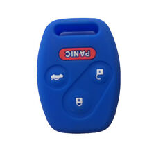Navy Blue 3+1 Button Silicone Protective Fob Skin Key Cover Jacket fit for Honda