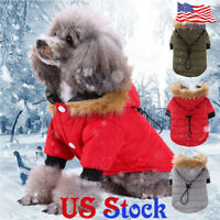 Pet Puppy Cat Dogs Clothing Winter Warm Coat Thickening Jacket Hoodie Costume