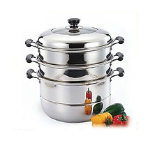 Stainless Steel Steamer Pot (3 Layers) with Lid (set)