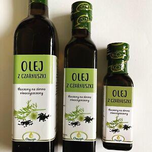 Black Cumin Oil 100% {Nigella Sativa} Cold Press, Pure RAW Olej z czarnuszki