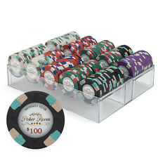 200-Count Poker Chip Set w/Acrylic Tray Case*Monaco*13.5 Gram Casino Grade