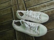 RARE CONVERSE TOILE BLANCHES 37,5 BE GENERAL A 11€ ACH IMM FP RED MOND RELAY !!!