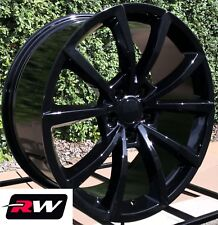 "20"" Dodge Durango Wheels 20x9"" Jeep Grand Cherokee Trackhawk Gloss Black Rims"