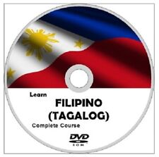 Learn FILIPINO (TAGALOG) Language Course DVD ROM MP3 AUDIO & PDF TEXTBOOKS