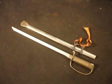 Old Vtg Collectible Toy Sword Blade With Scabbard Whistle Gold Silver Tone