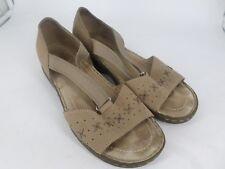 Hotter Dotty Beige Leather Sandals UK 7.5 EU 41.5 LN085 ZZ 02