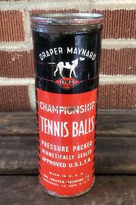 Vtg 1950s Draper & Maynard Championship Tennis Ball Tin Can Rare Cincinnati Ohio