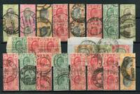 South Africa Postmarks on EDVII Transvaal Stamps. 18 pmks