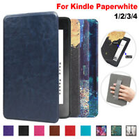 Magnetic Case Leather Cover Handle For Amazon Kindle Paperwhite 1/2/3/4 2018