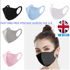 PACK OF 10 WASHABLE / REUSEABLE PROTECTIVE FACE MASKS  UK STOCK WHOLESALE