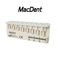 Bid Dental MINI-ENDO-BLOC, Endo Measuring Root Canal Files Block MacDent