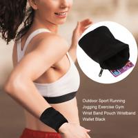Outdoor Sport Portable Jogging Gym Zipper Wallet Armband Wrist Pouch Bag